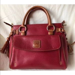 Dooney & Bourke Pebbled Leather Crimson Satchel